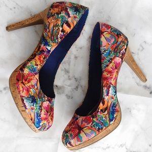 NEW Multi Colored Pump Heels Women's 13